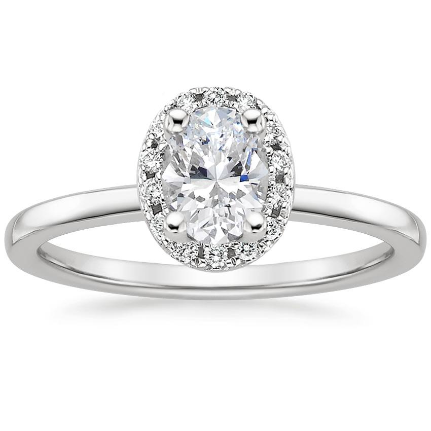 Oval Pavé Diamond Ring