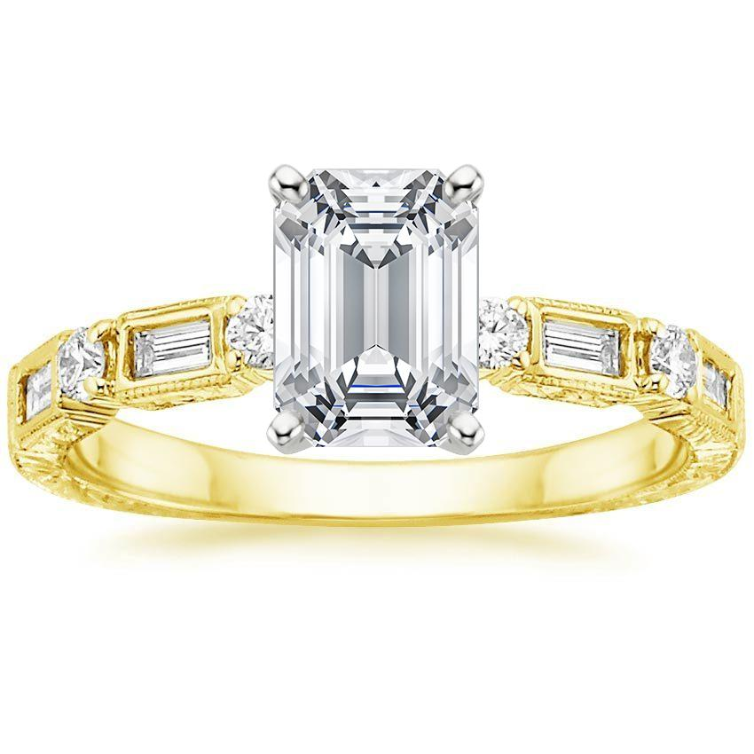 Yellow Gold Vintage Diamond Baguette Ring (1/4 ct. tw.)