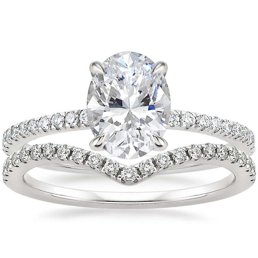 18K White Gold Luxe Viviana Diamond Ring (1/3 ct. tw.) with Flair Diamond Ring