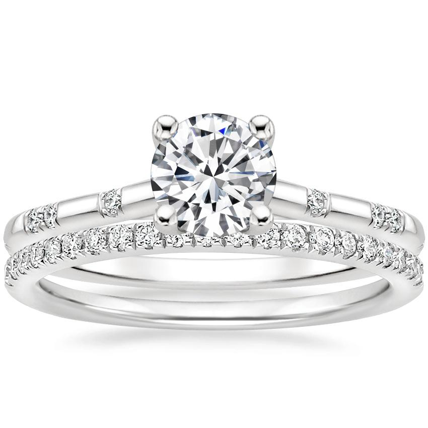 18K White Gold Astra Diamond Ring with Ballad Diamond Ring (1/6 ct. tw.)