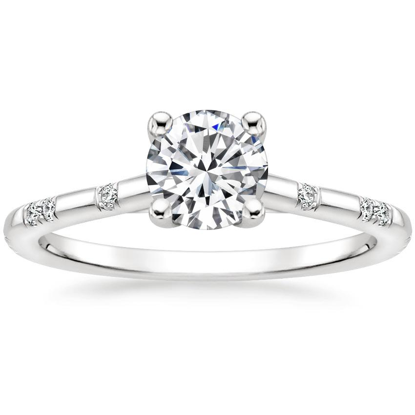 Round Platinum Astra Diamond Ring