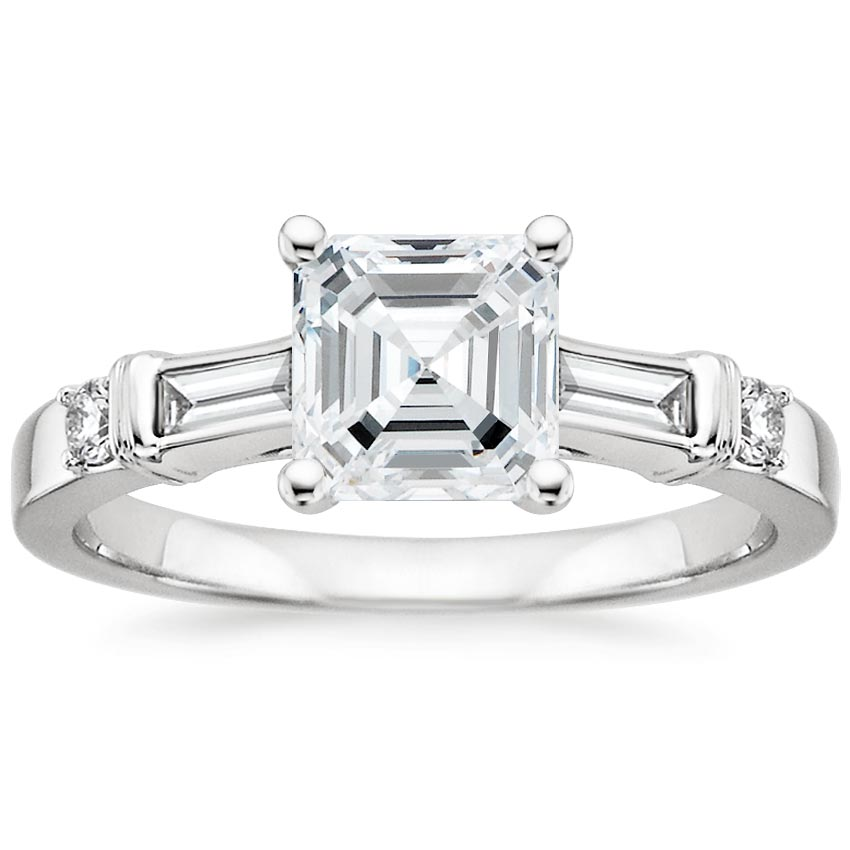 18K White Gold Rialto Diamond Ring, top view