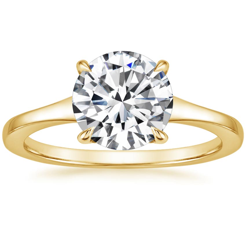Round Solitaire Engagement Setting