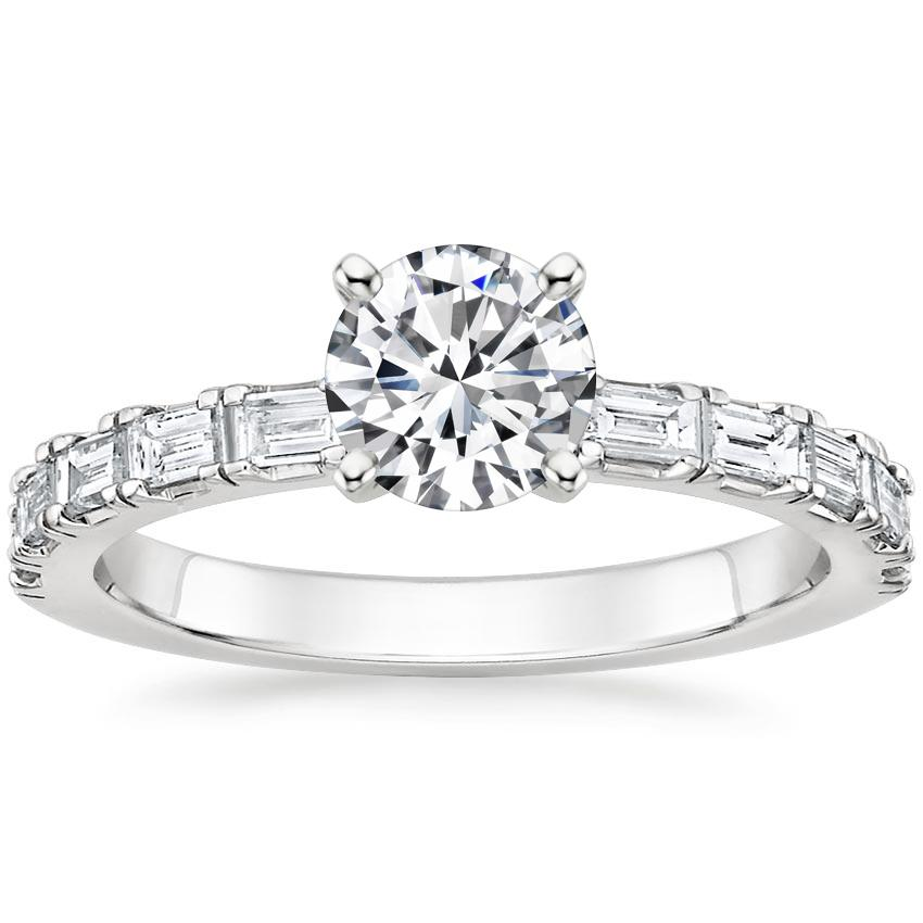 Round Baguette Diamond Ring