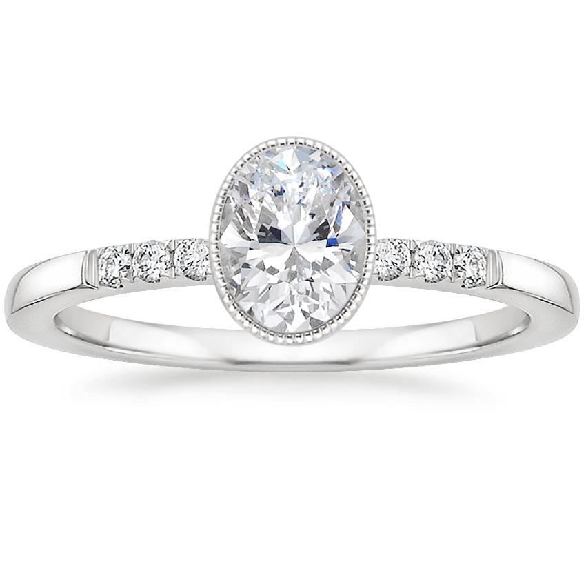 Oval Platinum Imogen Diamond Ring