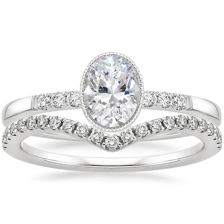 Platinum Imogen Diamond Ring with Flair Diamond Ring (1/6 ct. tw.)