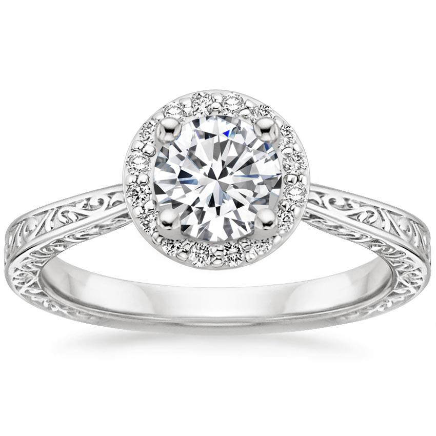 Round 18K White Gold Contessa Diamond Ring