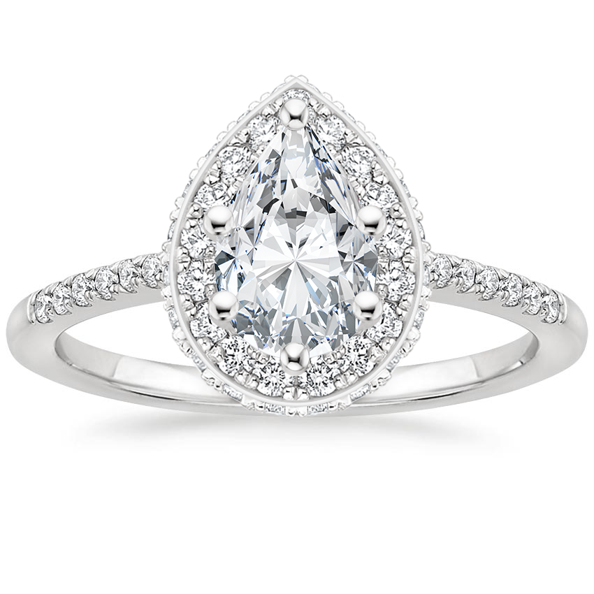 Pear Platinum Circa Diamond Ring
