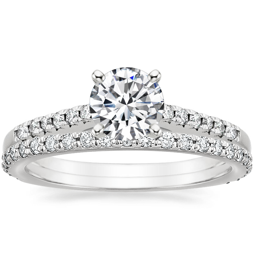 Platinum Sonora Diamond Ring with Luxe Sonora Diamond Ring (1/4 ct. tw.)