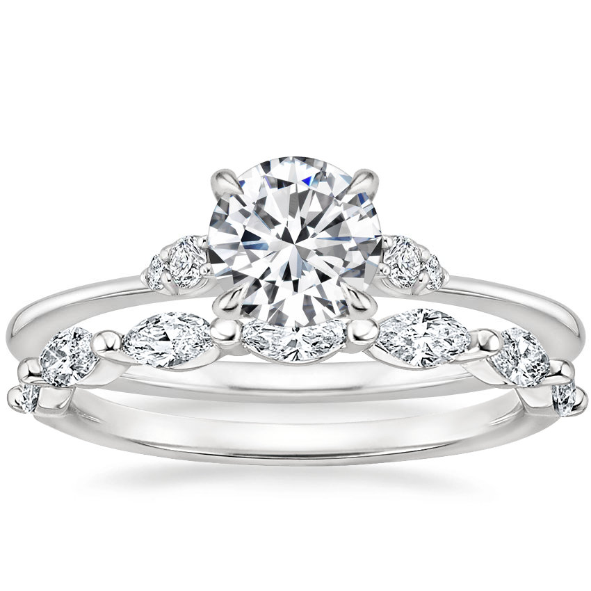 Platinum Colette Diamond Ring with Joelle Diamond Ring