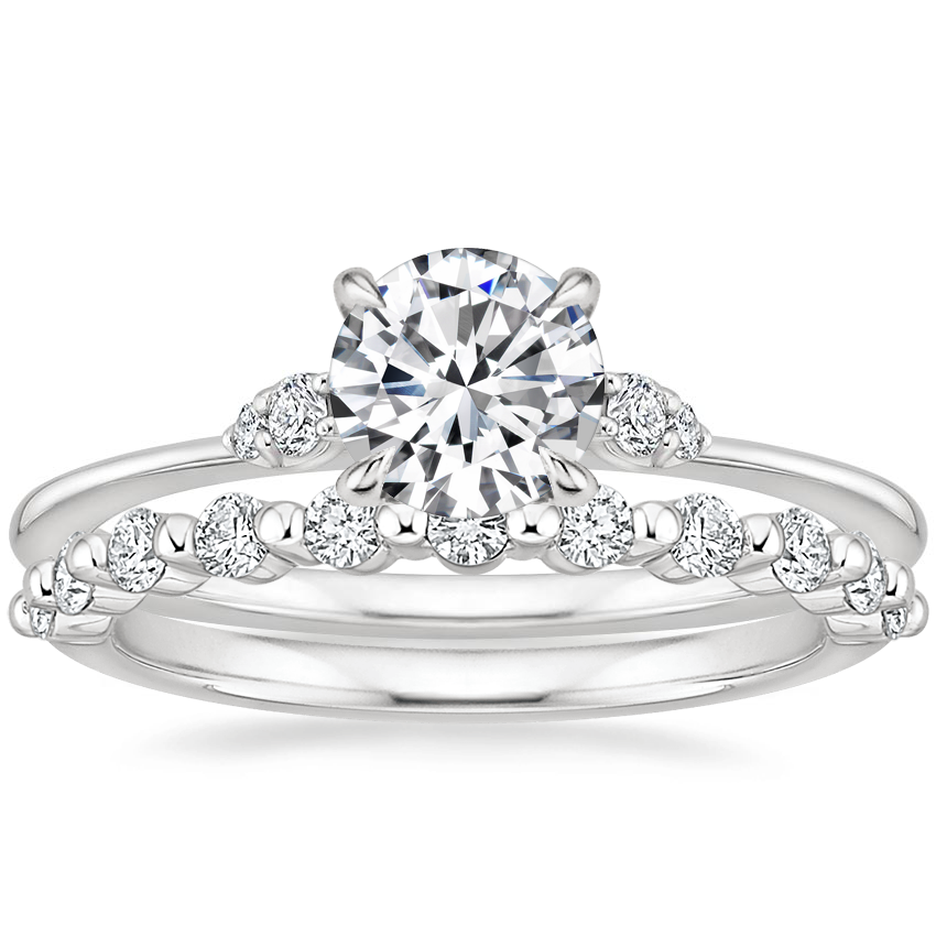 18K White Gold Colette Diamond Ring with Marseille Diamond Ring (1/3 ct. tw.)