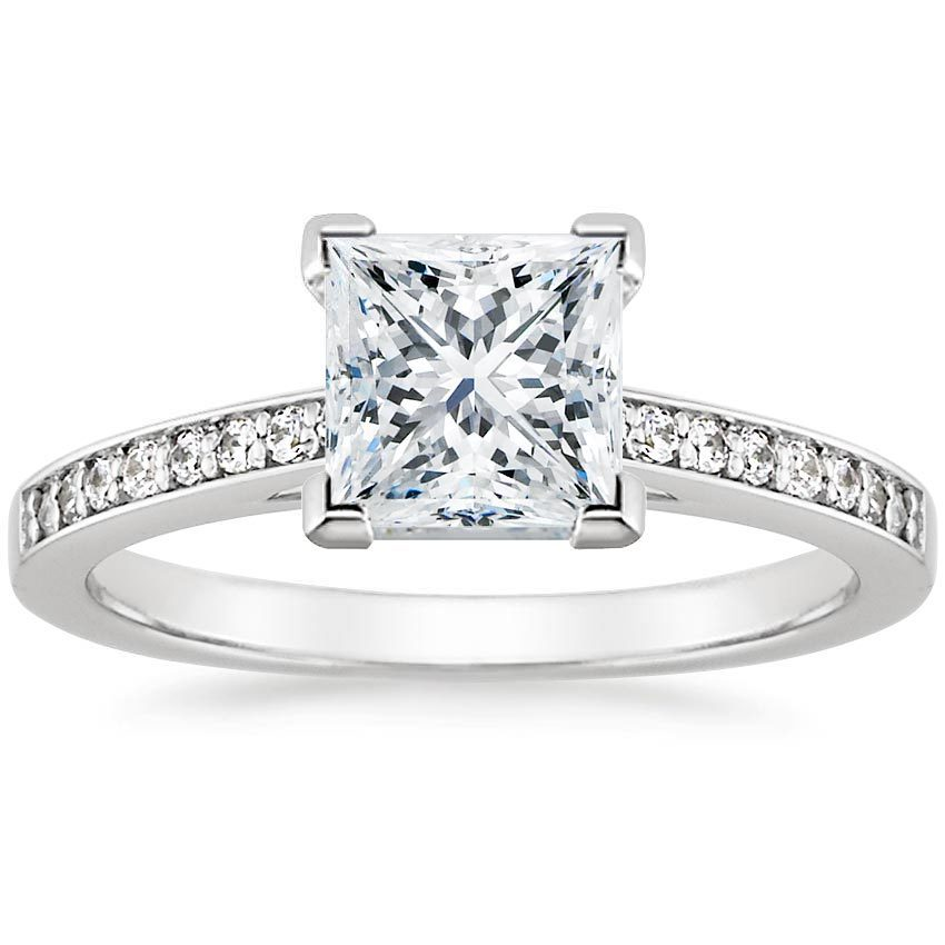 Platinum Starlight Diamond Ring, top view