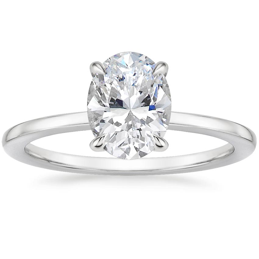 Oval Platinum Lumiere Diamond Ring