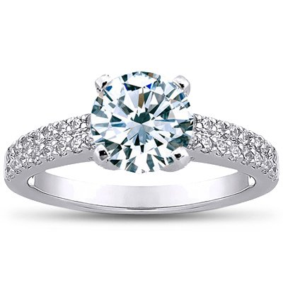 Round 18K White Gold Avalon Ring (1/3 ct. tw.)