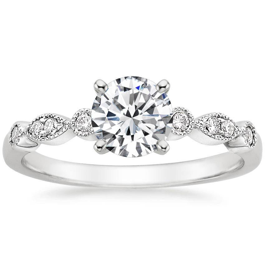 Platinum Tiara Diamond Ring, top view