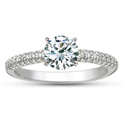 18K White Gold Allegra Diamond Ring (1/4 ct. wt.), top view