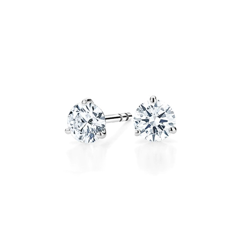 double prong accent white other setting basket dimond princess earrings studs sizes diamond gold solitaire solid cut stud