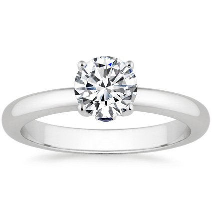 18K White Gold Serendipity Ring, top view