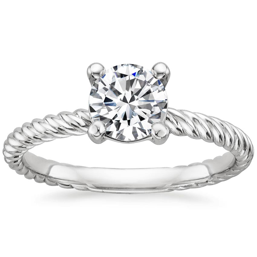 Platinum Entwined Ring, top view