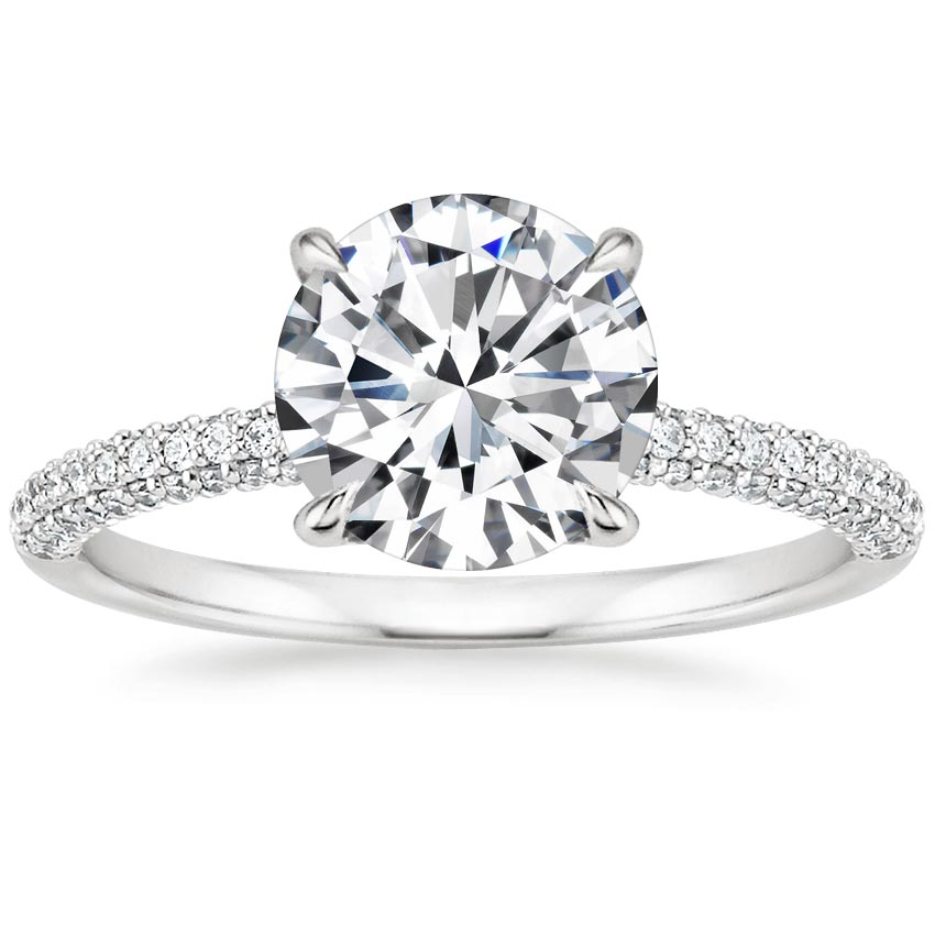 Round Micro Pavé Diamond Ring
