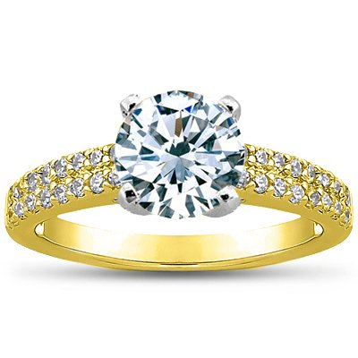Round 18K Yellow Gold Avalon Ring (1/3 ct. tw.)