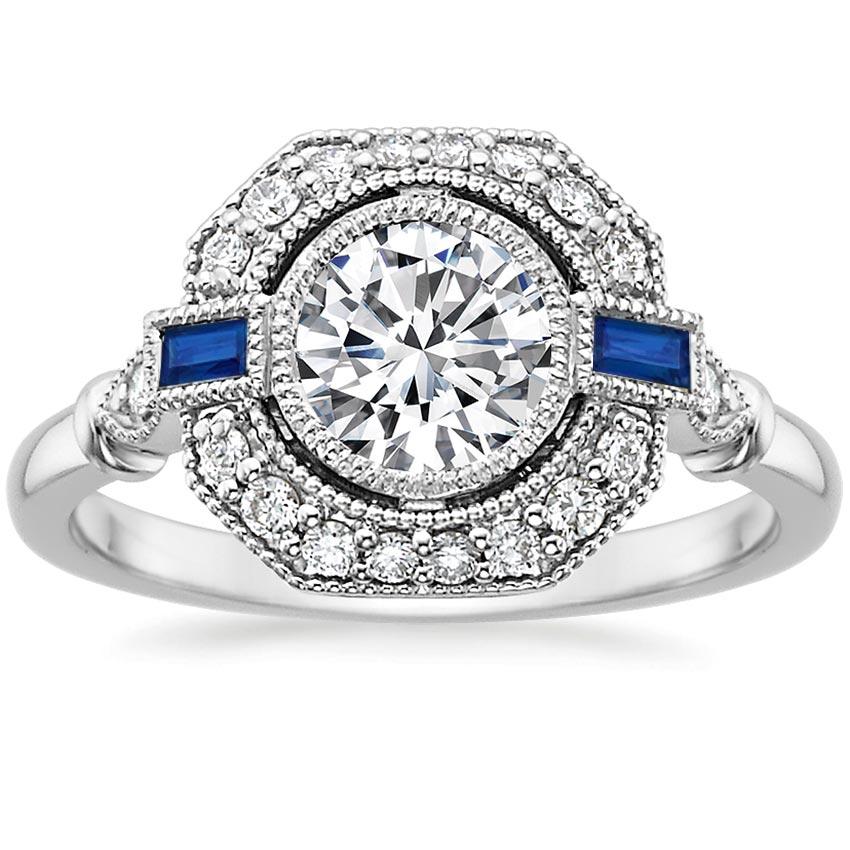 Vintage Sapphire And Diamond Ring Ostara Brilliant Earth