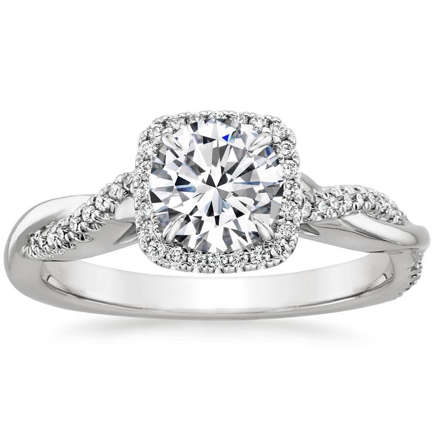 Twist Halo Engagement Ring Twisted Vine Halo Brilliant