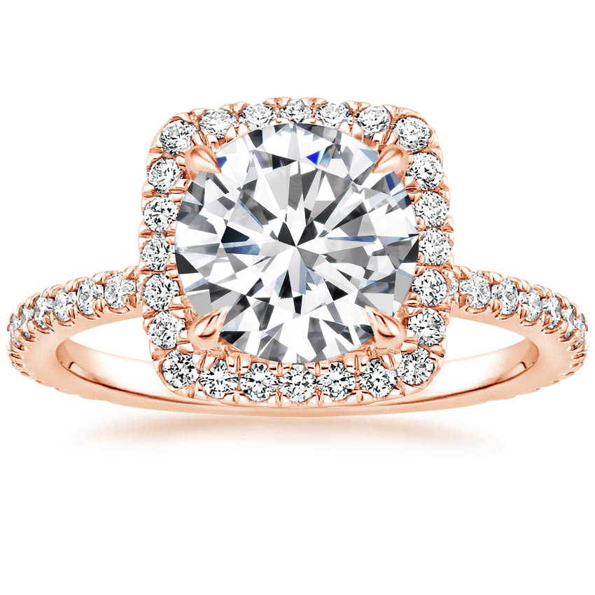 Round 14K Rose Gold Giselle Diamond Ring (1/2 ct. tw.)