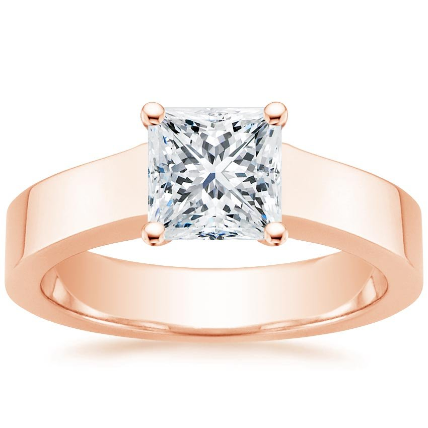 14K Rose Gold Marina Ring, top view