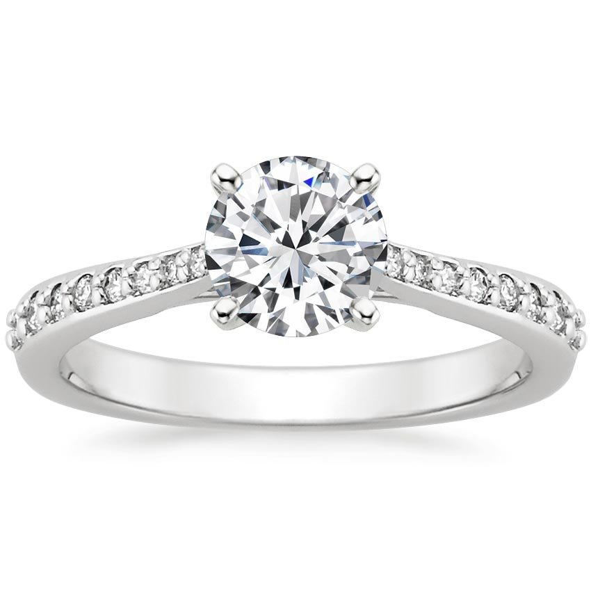 Platinum Geneva Diamond Ring, top view