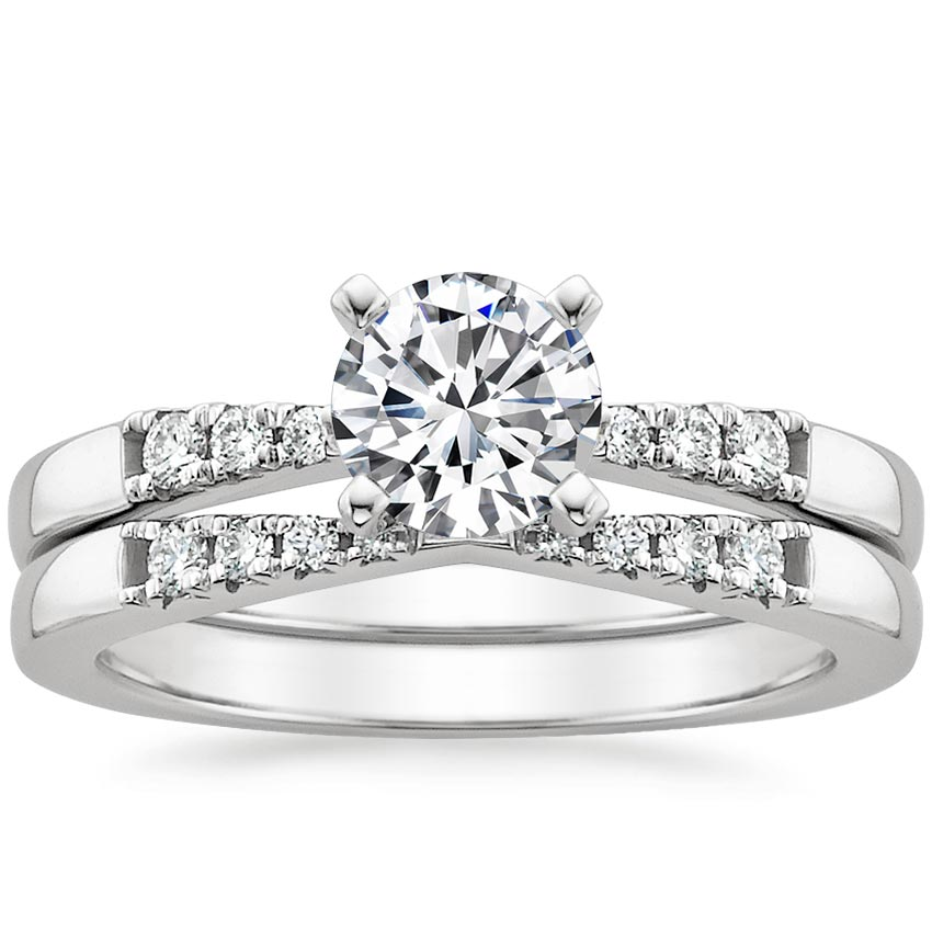 18K White Gold Dolce Diamond Matched Set, top view