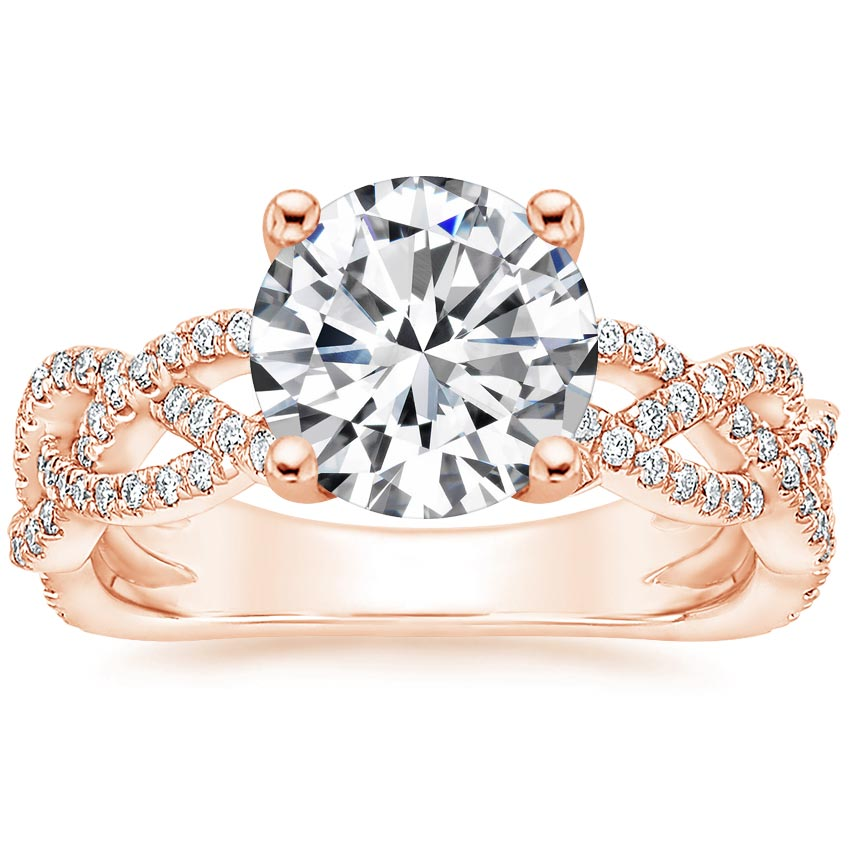 Round 14K Rose Gold Solana Diamond Ring (1/3 ct. tw.)