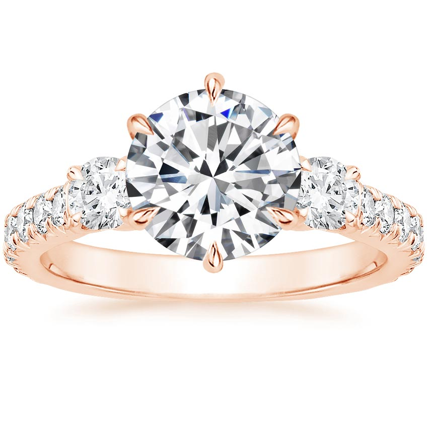 Round 14K Rose Gold Gramercy Diamond Ring (3/4 ct. tw.)