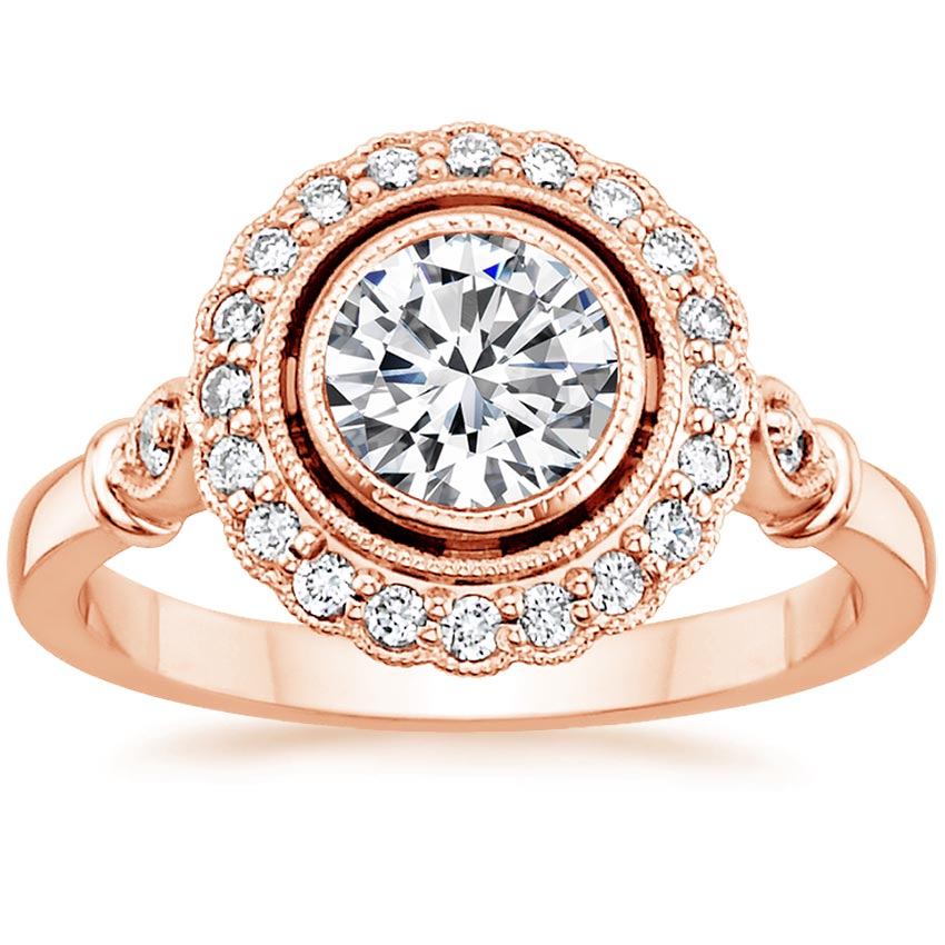 Floating Halo Engagement Ring Bella Brilliant Earth