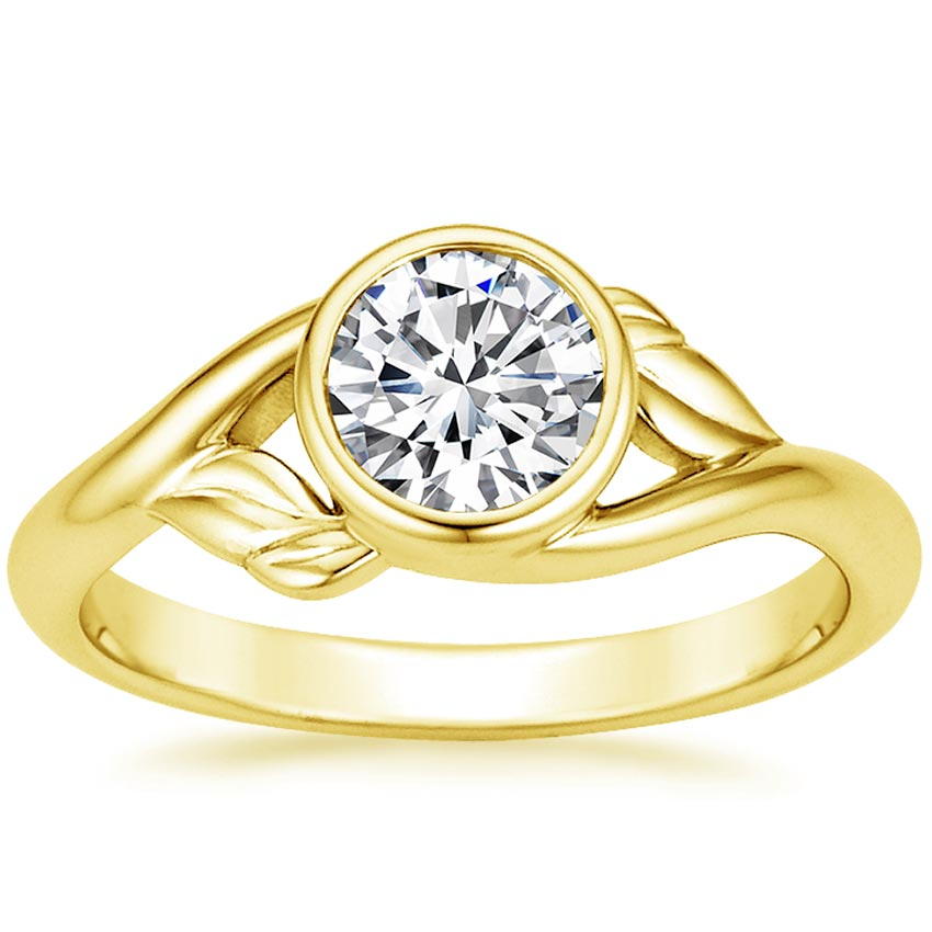 Round 18K Yellow Gold Terra Ring