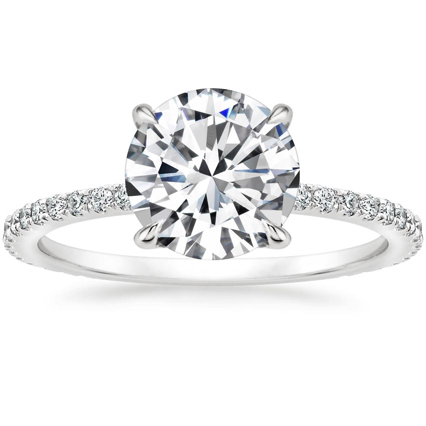 Round Platinum Demi Diamond Ring (1/3 ct. tw.)