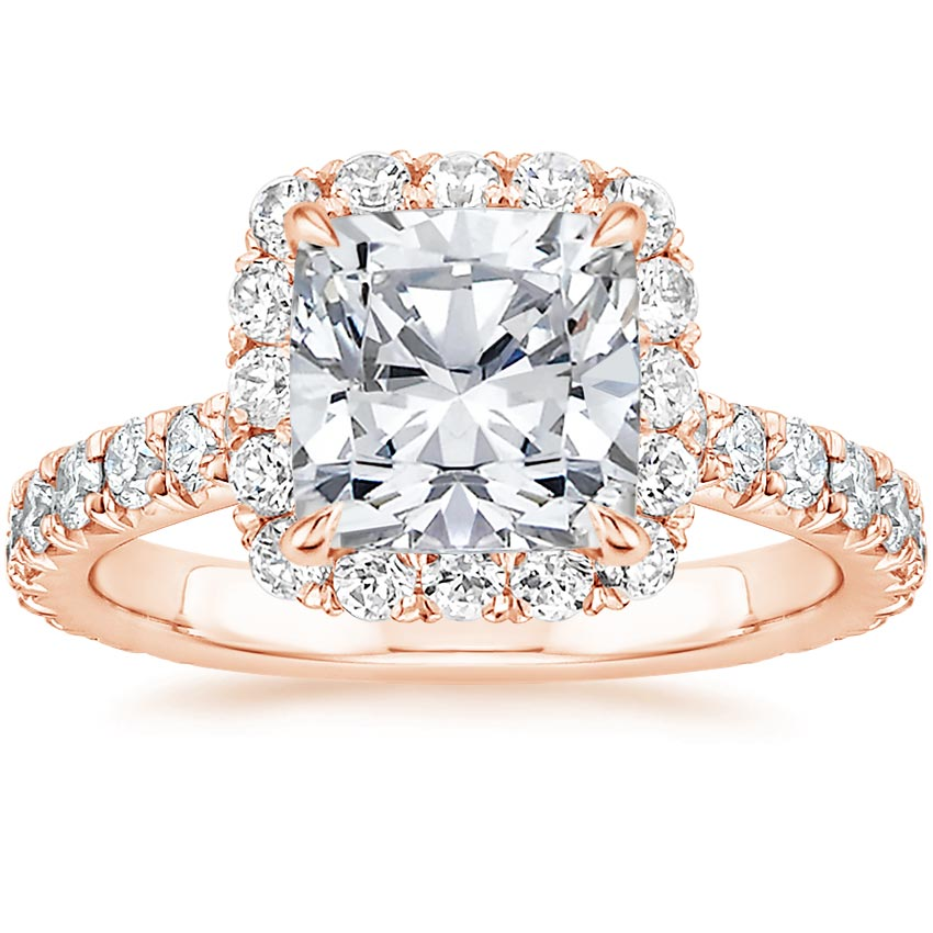 Cushion 14K Rose Gold Estelle Diamond Ring (3/4 ct. tw.)
