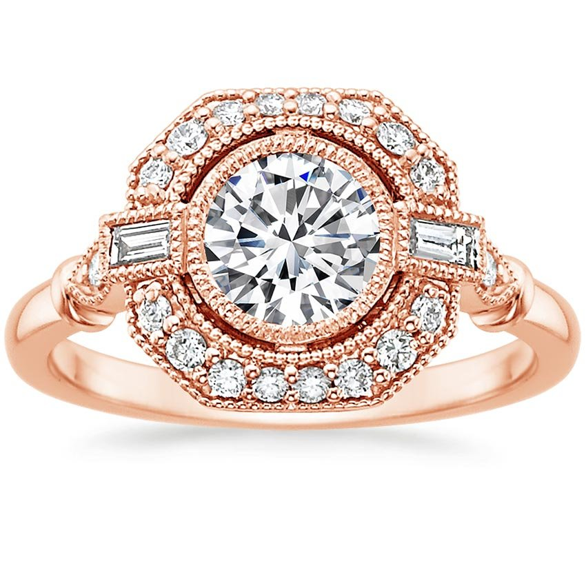 Round 14K Rose Gold Ostara Diamond Ring (1/4 ct. tw.)
