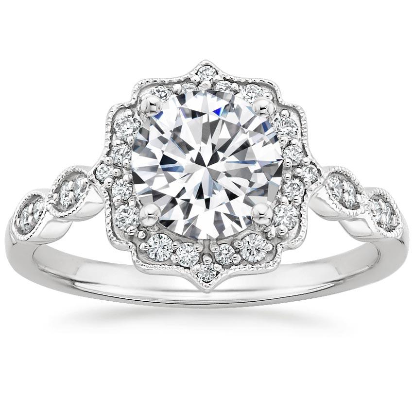 Vintage Inspired Engagement Ring Cadenza Halo