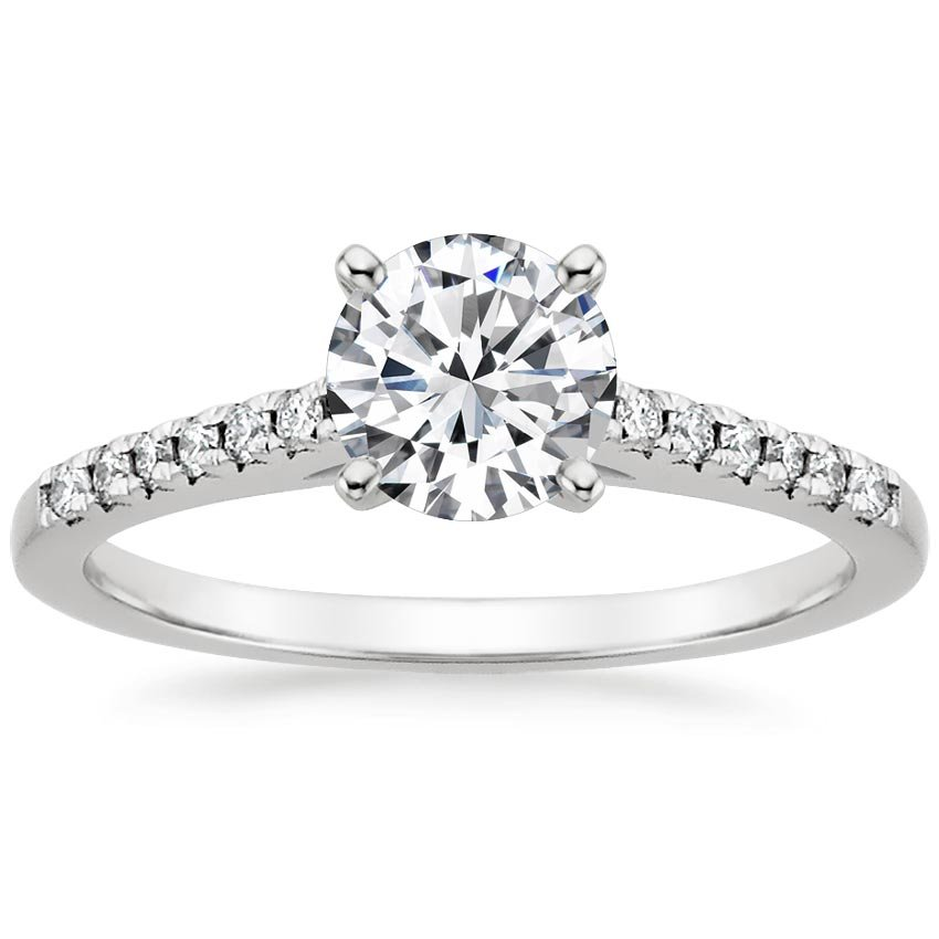 18K White Gold Sonora Diamond Ring, top view
