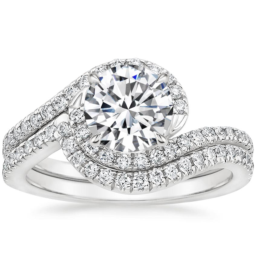 18K White Gold Venus Diamond Bridal Set (1/2 ct. tw.)