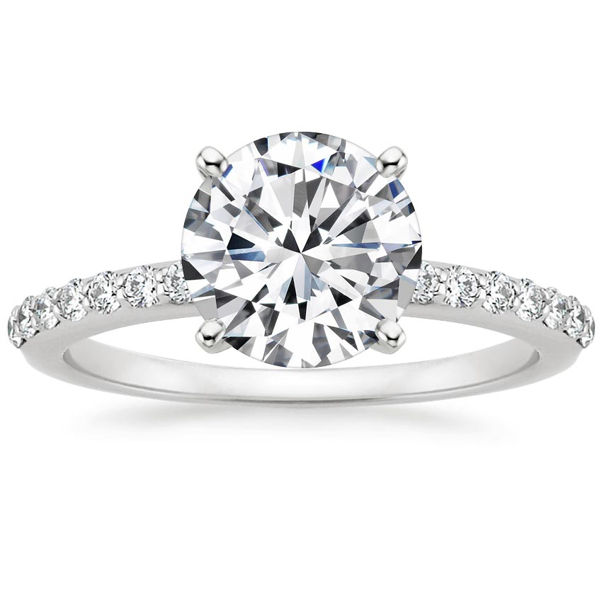 product round platinum diamond rings abq gold albuquerque tacori silver engagement ring