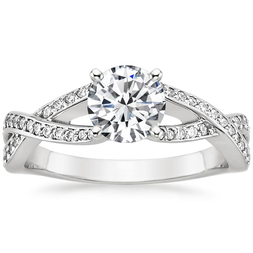 Platinum Amore Diamond Ring, top view