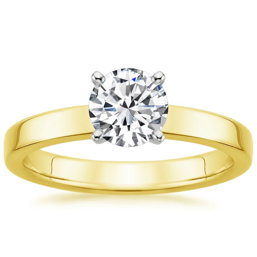Round 18K Yellow Gold Quattro Ring