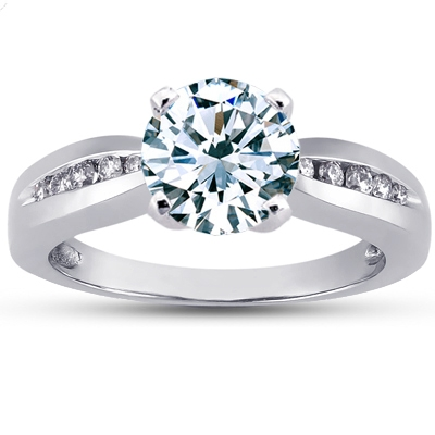 Platinum Lyrica Diamond Ring, top view