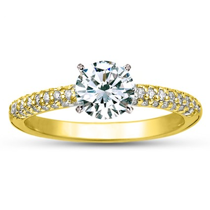 18K Yellow Gold Allegra Diamond Ring (1/4 ct. wt.), top view