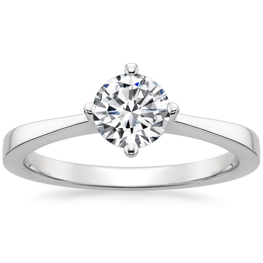 Round Platinum True North Ring