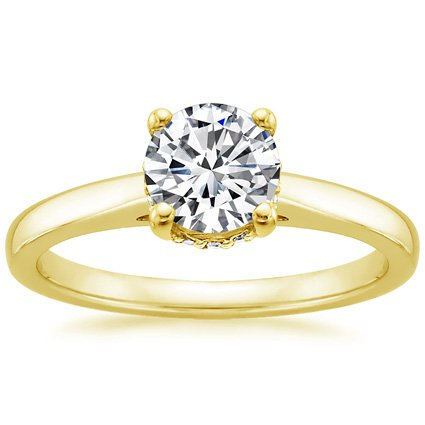 18K Yellow Gold Sonata Diamond Ring, top view