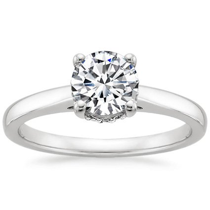 Platinum Sonata Diamond Ring, top view