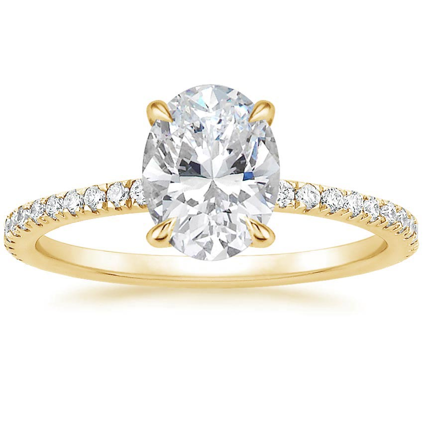 Oval 18K Yellow Gold Luxe Viviana Diamond Ring (1/3 ct. tw.)